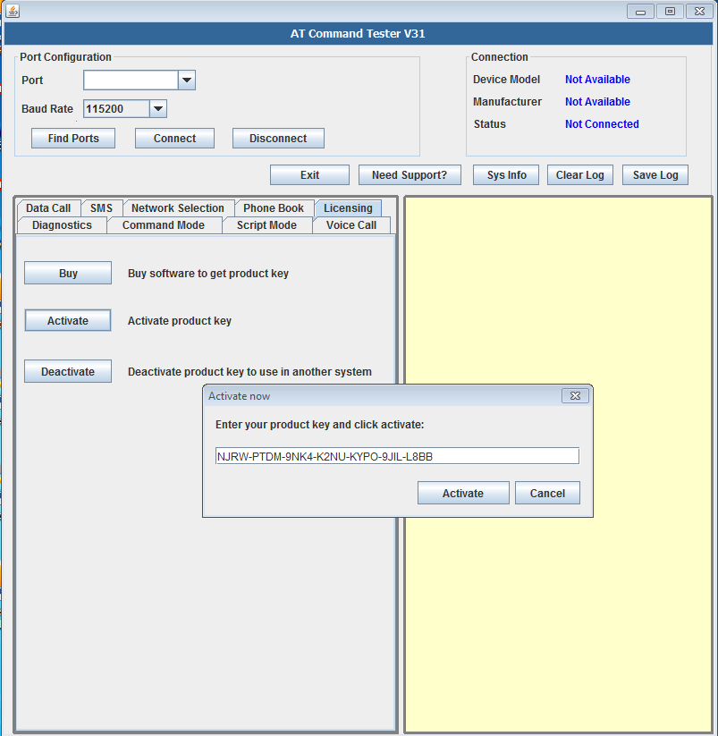 Buy AT Command Tester for Simcom Modules | M2MSupport net