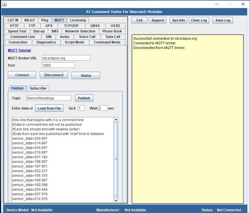 MQTT – Connect to Eclipse public MQTT Server | M2MSupport net
